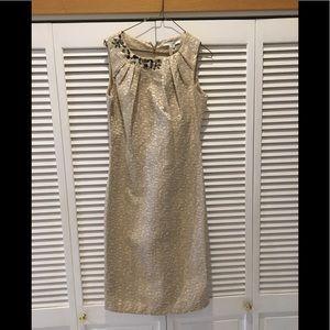 Max & Cleo Gold Dress Size 8